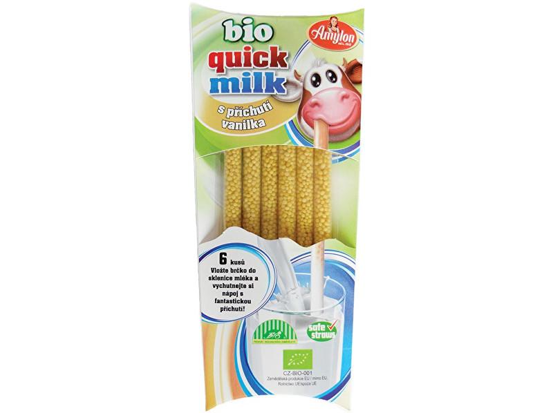 Zobrazit detail výrobku Amylon Bio Quick Milk Magická brčka do mléka s příchutí vanilka Amylon 6x6g