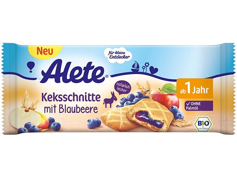 Zobrazit detail výrobku Alete Bio sušenka s ovocnou náplní s borůvkami (25%) 30g