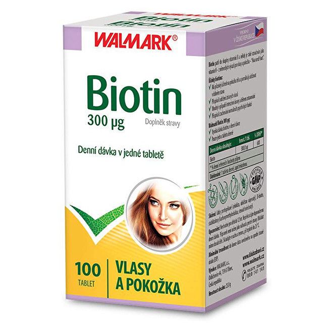 Zobrazit detail výrobku Walmark Biotin 300 µg 100 tbl.