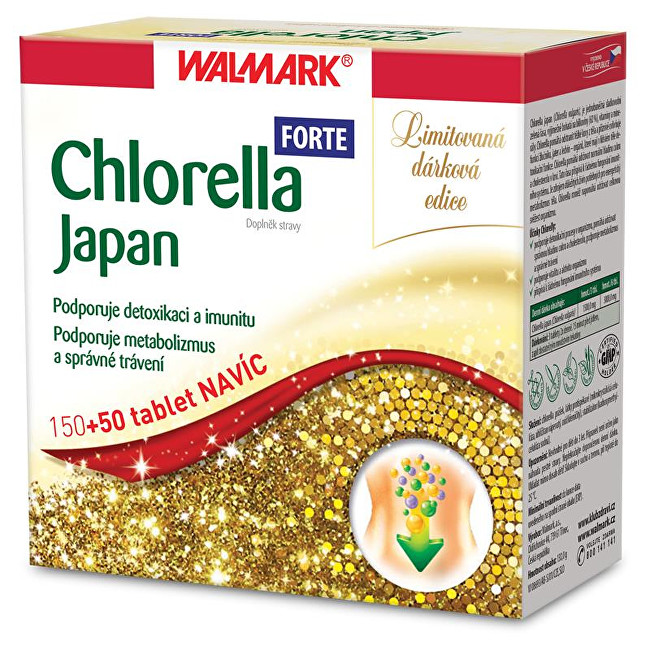 Zobrazit detail výrobku Walmark Chlorella Japan Forte 150 tbl. + 50 tbl. ZDARMA