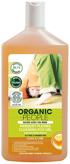 Organic People Eko čistící gel na parkety s organickým včelím voskem 500 ml