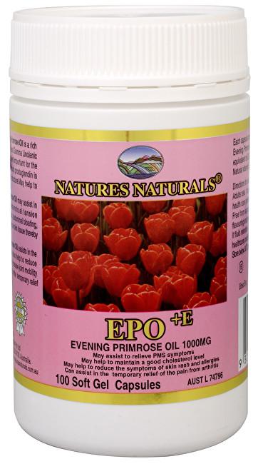 Evening Primrose oil - Pupalkový olej 1000 mg 100 kapslí