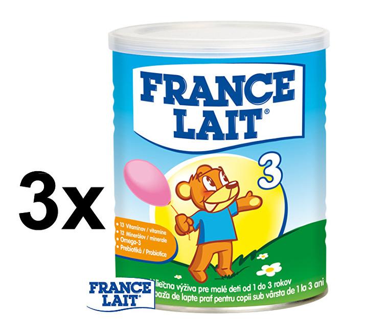 Zobrazit detail výrobku France Lait Mléčná výživa na podporu růstu pro děti od 1 roku 3 x 400 g