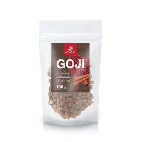 Allnature Goji v mléčné čokoládě se skořicí 100 g