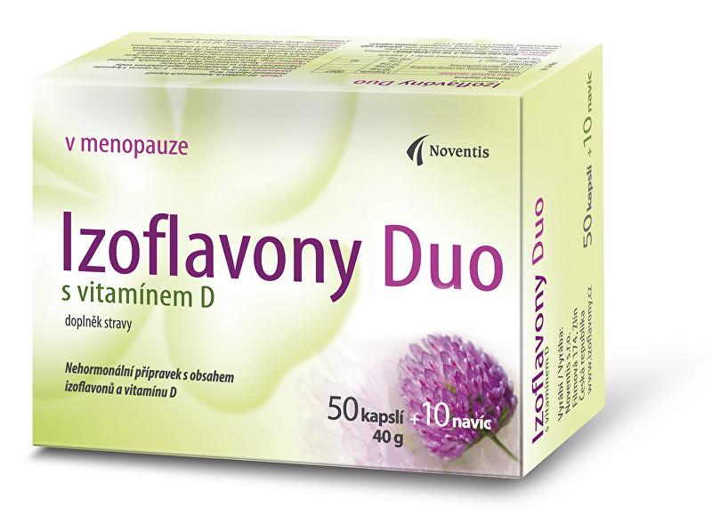 Zobrazit detail výrobku Noventis Izoflavony Duo s vitamínem D 50 kapslí + 10 navíc