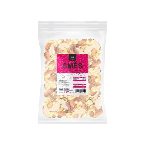 Zobrazit detail výrobku Allnature Jádra ořechů směs (mandle, lískače, kešu, para) 1000 g