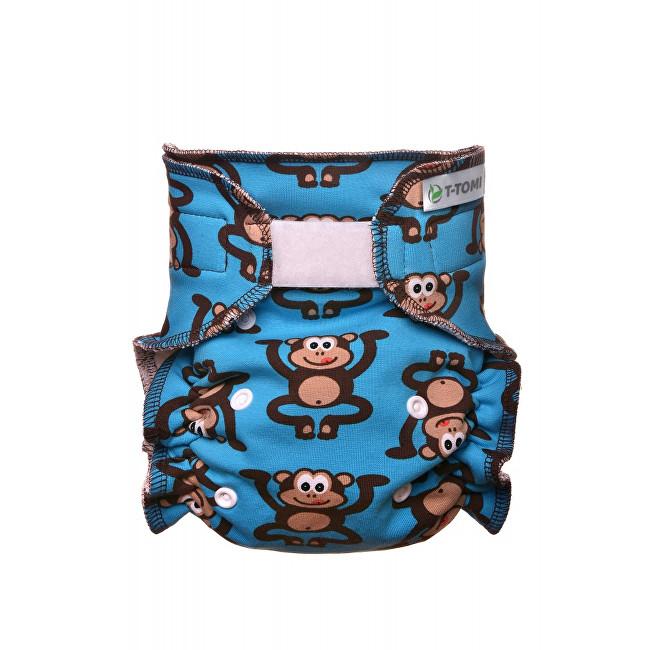 Zobrazit detail výrobku T-tomi Kalhotková plena - přebalovací set suchý zip (3 - 15 kg) Monkies