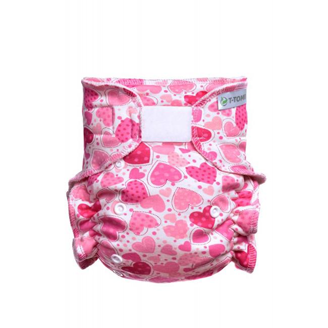 Zobrazit detail výrobku T-tomi Kalhotková plena - přebalovací set suchý zip (3 - 15 kg) Hearts