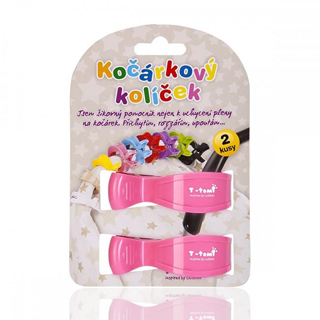 Zobrazit detail výrobku T-tomi Kočárkový kolíček 2 ks Pink / růžová