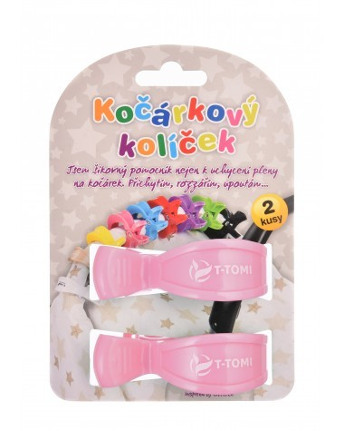 Zobrazit detail výrobku T-tomi Kočárkový kolíček 2 ks Pastel pink