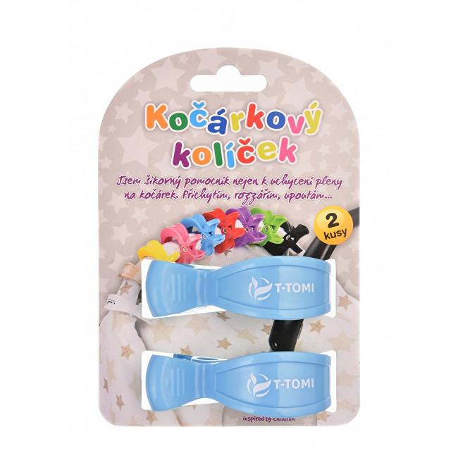 Zobrazit detail výrobku T-tomi Kočárkový kolíček 2 ks Pastel blue
