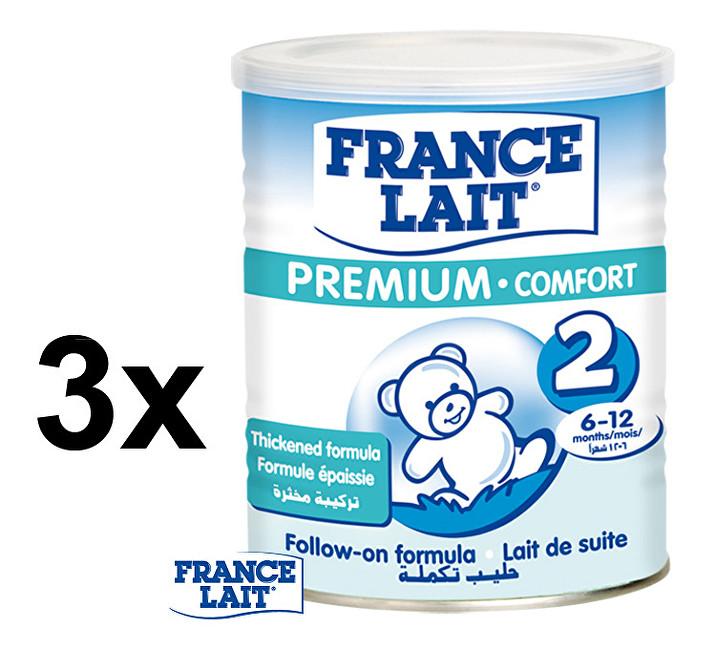 Zobrazit detail výrobku France Lait Kojenecké mléko Premium Comfort 2 3 x 400 g