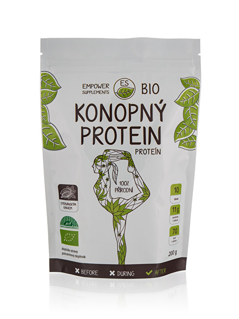 Empower Supplements Konopný proteín s kakaom BIO 200 g