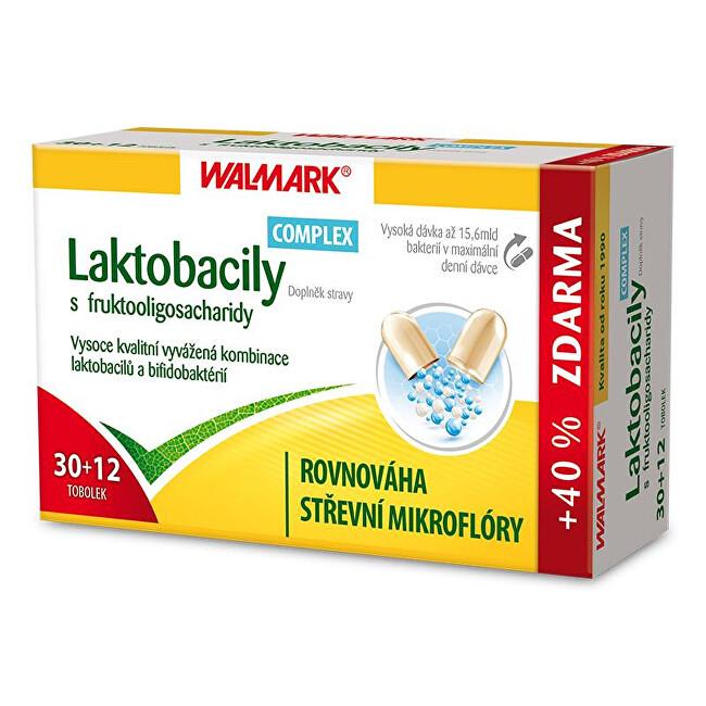 Zobrazit detail výrobku Walmark Laktobacily Complex s fruktooligosacharidy 30 tob. + 12 tob. ZDARMA