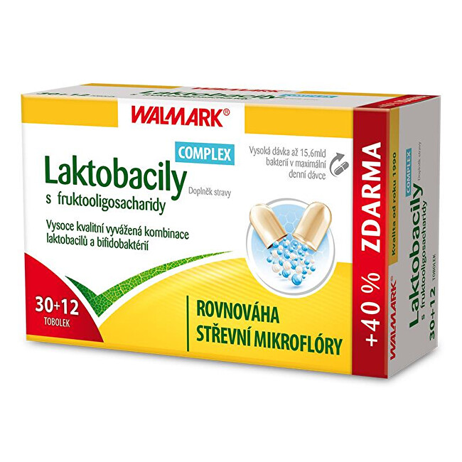 Walmark Laktobacily Complex s fruktooligosacharidy 42 tablet