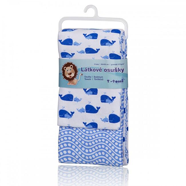 T-tomi Látkové osušky 80 x 100 cm 2 ks Blue ocean / modrý oceán
