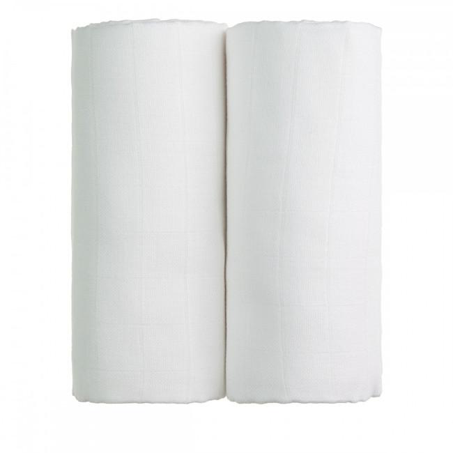 T-tomi Látkové TETRA osušky 90 x 100 cm 2 ks 2 x white / bílá