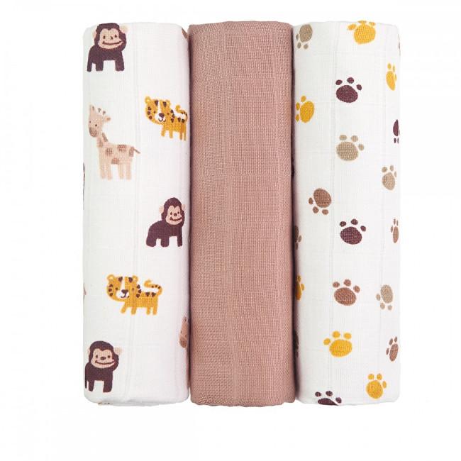 Zobrazit detail výrobku T-tomi Látkové TETRA pleny 70 x 70 cm 3 ks Monkey /opice