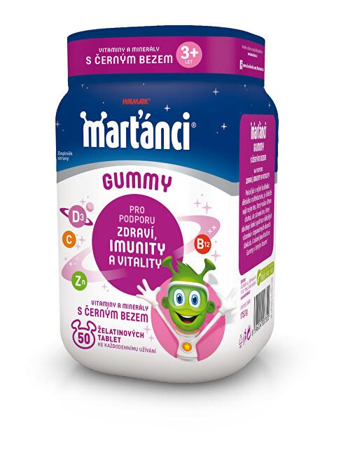 Walmark Marťánci Gummy černý bez 50 + 20 tablet