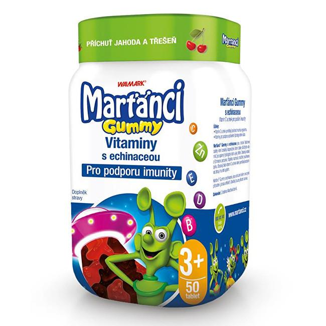 Zobrazit detail výrobku Marťánci Marťánci Gummy vitamíny s echinaceou příchuť jahoda a třešeň 50 ks