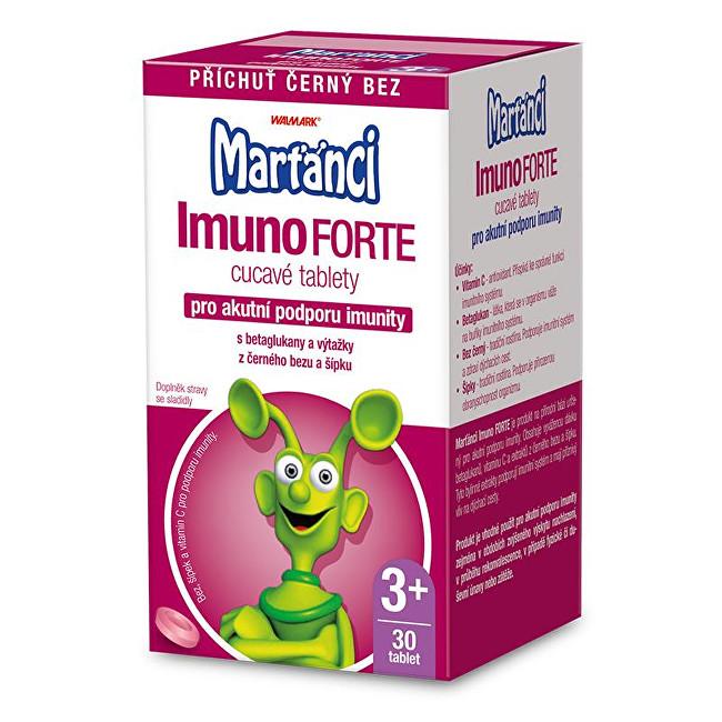 Zobrazit detail výrobku Marťánci Marťánci ImunoForte příchuť černý bez 30 cucavých tbl.
