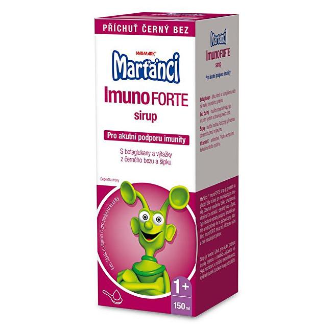 Marťánci Marťánci ImunoForte sirup příchuť černý bez 150 ml