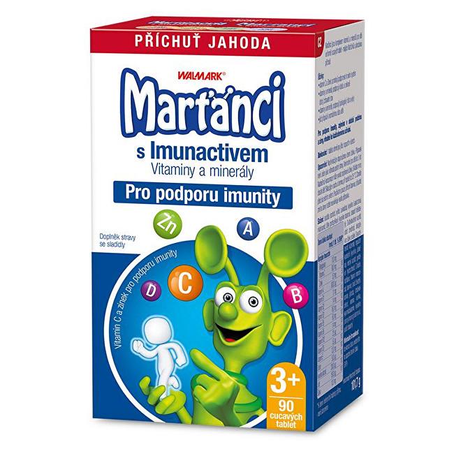 Marťánci Marťánci s Imunactivem příchuť jahoda 90 tbl.