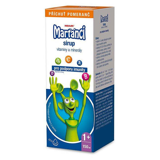 Zobrazit detail výrobku Marťánci Marťánci s Imunactivem sirup příchuť pomeranč 150 ml