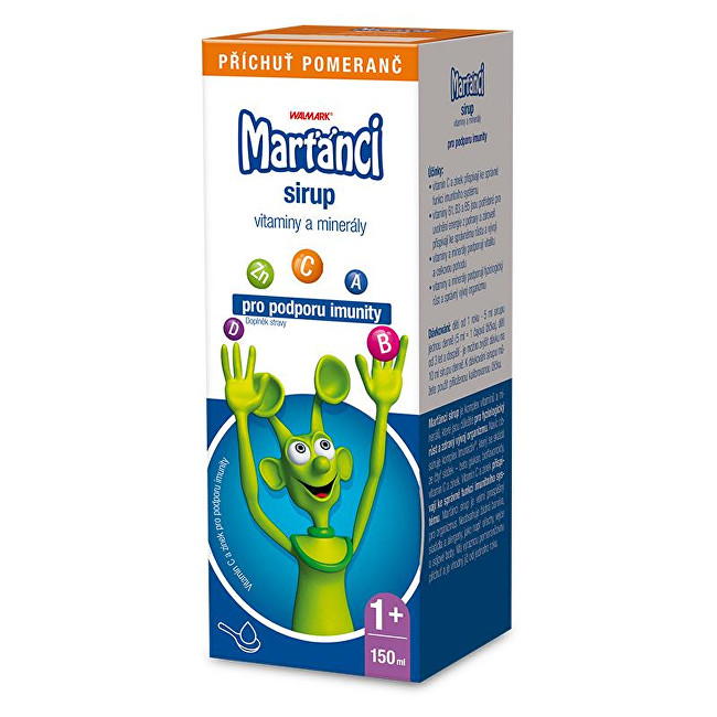 Marťánci Marťánci s Imunactivem sirup příchuť pomeranč 150 ml