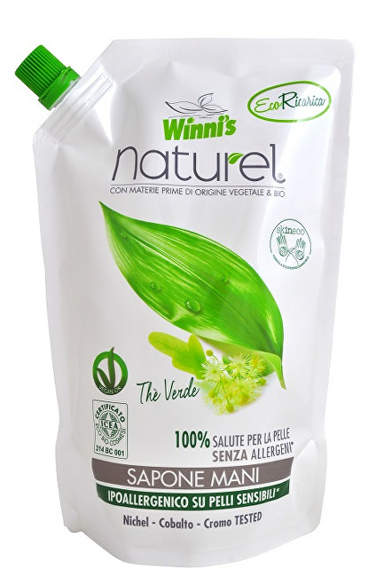 NATUREL Sapone Mani Ecoricaria The Verde tekuté mýdlo se zeleným čajem - náhradní náplň 500 ml