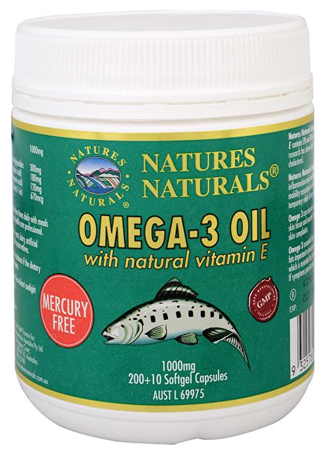 Omega-3 1000 mg rybí olej 200 + 10 kapslí
