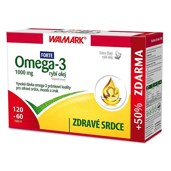 Zobrazit detail výrobku Walmark Omega 3 rybí olej Forte 120 tob. + 60 tob. ZDARMA