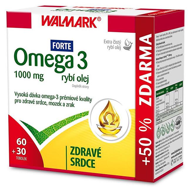 Zobrazit detail výrobku Walmark Omega 3 rybí olej Forte 60 tob. + 30 tob. ZDARMA