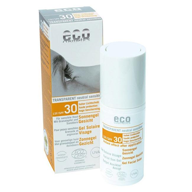 Zobrazit detail výrobku Eco Cosmetics Opalovací transparentní gel na obličej SPF 30(30ml)