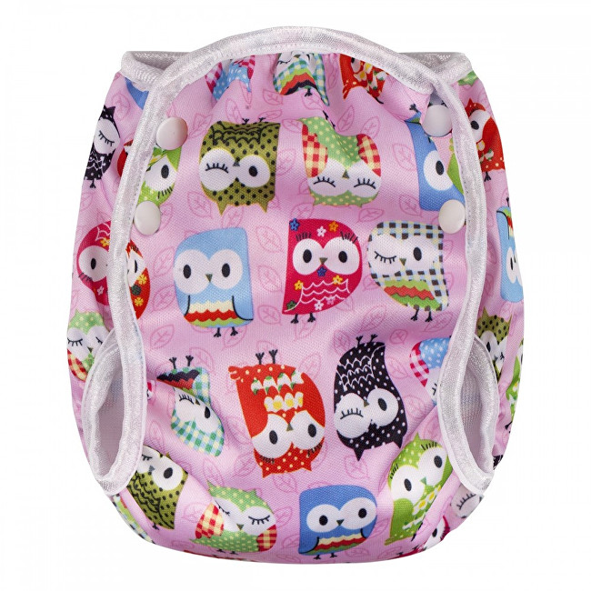 Zobrazit detail výrobku T-tomi Plenkové plavky velikost L (9 - 12 kg) Pink owl / růžová sova