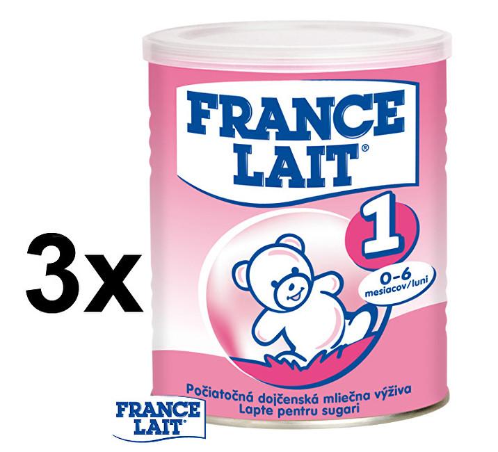 France Lait Počáteční mléčná kojenecká výživa 0 - 6 měsíců 3 x 400 g