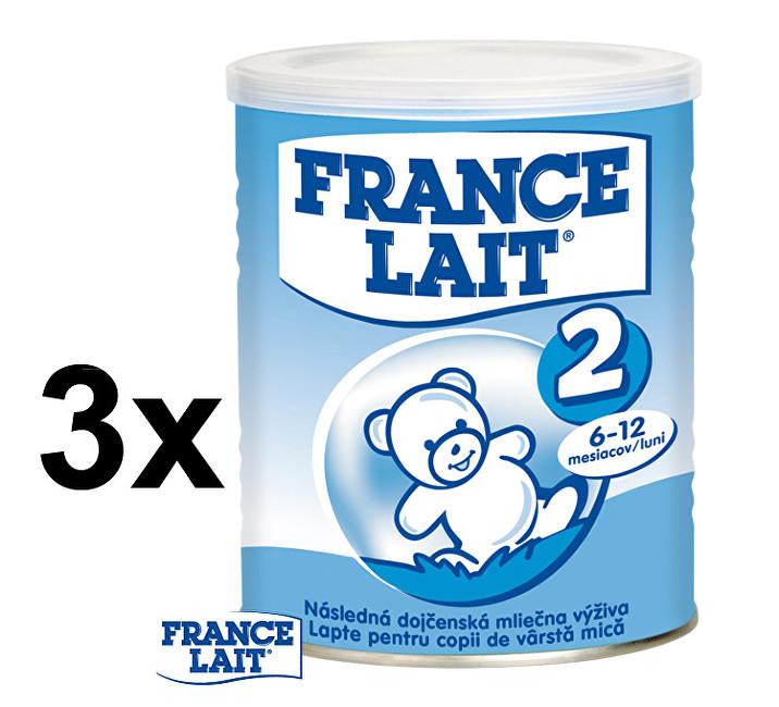 Zobrazit detail výrobku France Lait Pokračovací mléčná kojenecká výživa 6 - 12 měsíců 3 x 400 g
