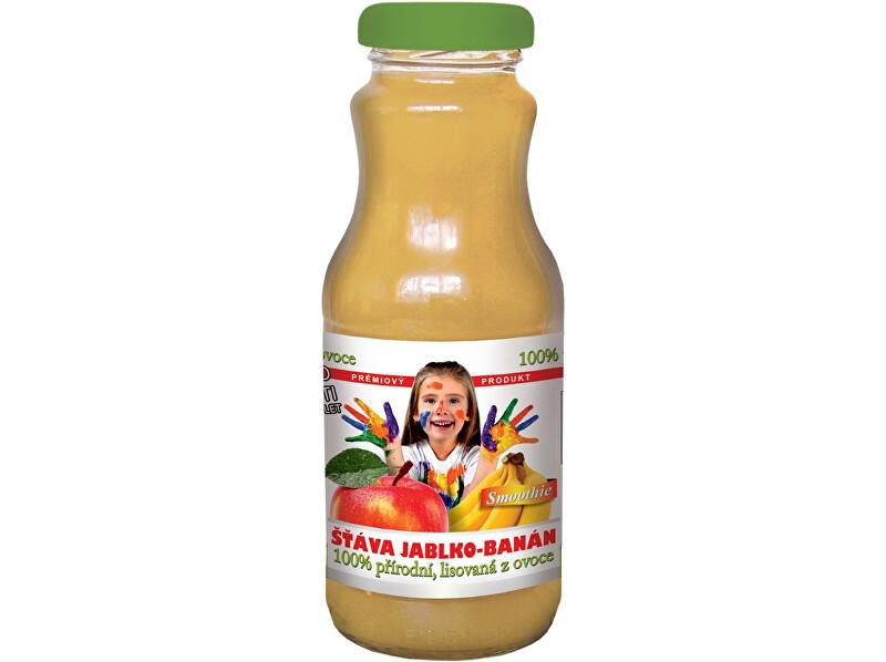 Zobrazit detail výrobku MONEDÍ Přírodní ovocná šťáva, 80% jablko, 20% banánové pyré, 250ml