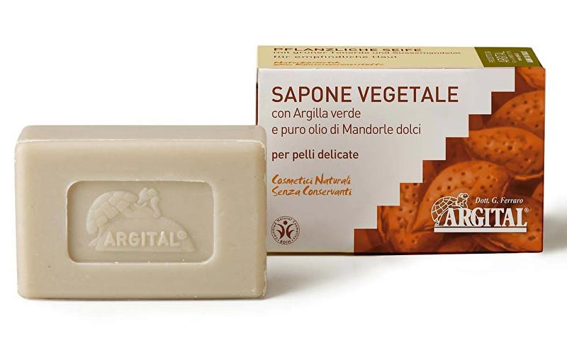Rostlinné mýdlo se zeleným jílem a mandlovým olejem 100 g