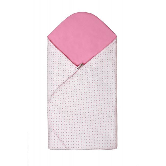 Zobrazit detail výrobku T-tomi Rychlozavinovačka 80 x 80 cm Bílá s růžovými puntíky