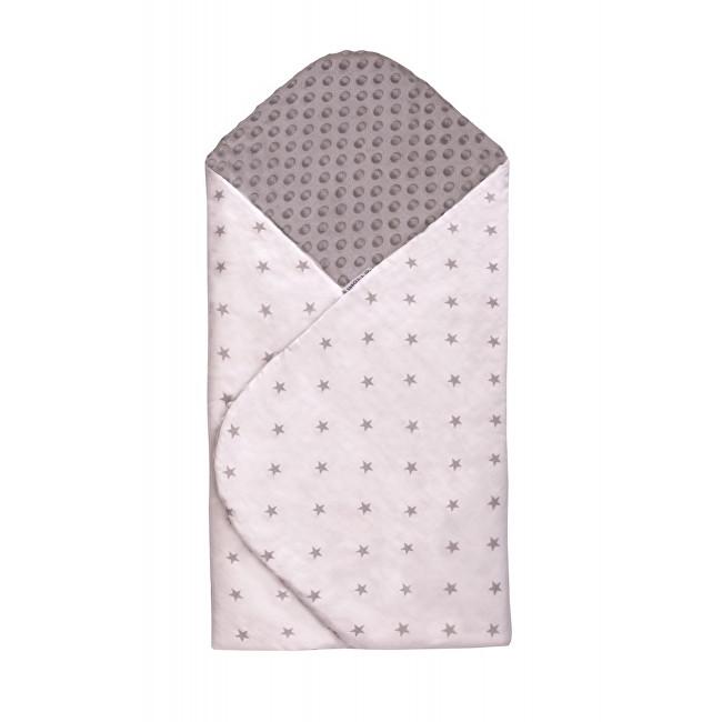 Zobrazit detail výrobku T-tomi Rychlozavinovačka MINKY 80 x 80 cm Bílá s šedými hvězdičkami