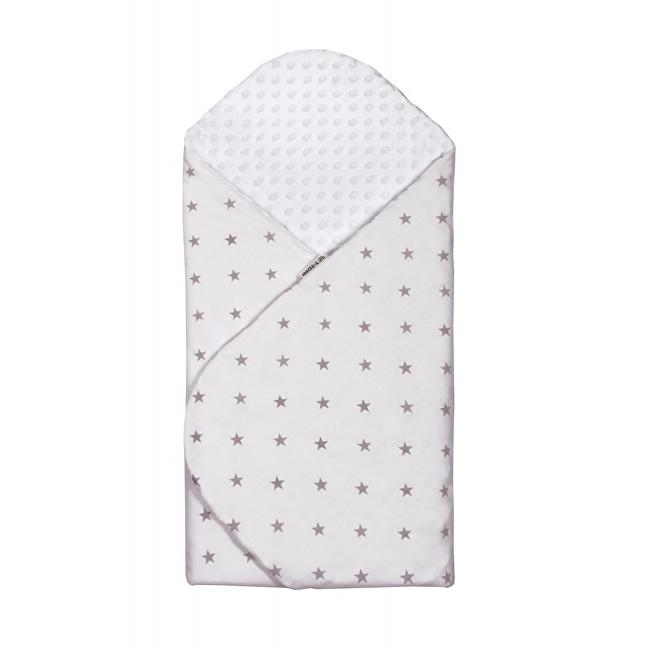 Zobrazit detail výrobku T-tomi Rychlozavinovačka MINKY 80 x 80 cm Bílošedá s šedými hvězdičkami