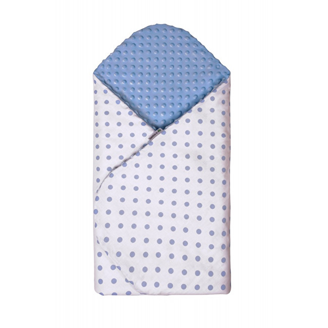 Zobrazit detail výrobku T-tomi Rychlozavinovačka MINKY 80 x 80 cm Bílá s modrými puntíky
