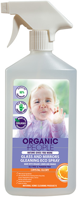 Organic People Sprej na sklo a zrcadla 500 ml