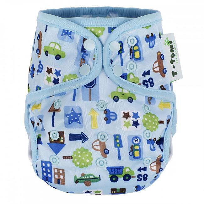 T-tomi Svrchní kalhotky (4 - 15 kg) Blue cars / modrá auta