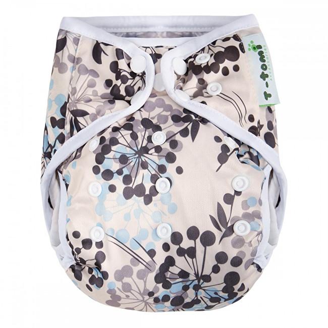Zobrazit detail výrobku T-tomi Svrchní kalhotky (4 - 15 kg) Grey flowers / šedé kytky