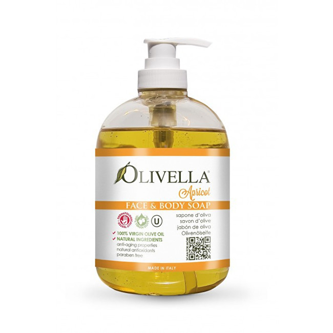 Zobrazit detail výrobku Olivella Tekuté mýdlo s vůní meruňky 500 ml
