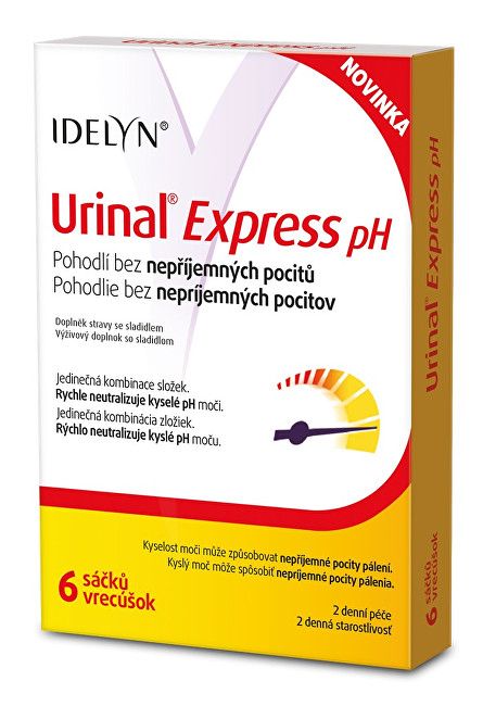 Idelyn Urinal Express pH 6 sáčkov