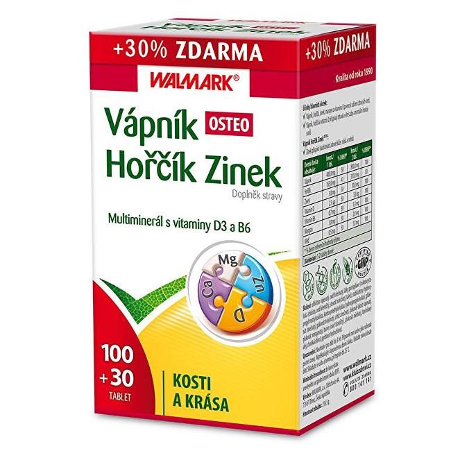 Zobrazit detail výrobku Walmark Vápník Hořčík Zinek OSTEO 100 tbl. + 30 tbl. ZDARMA