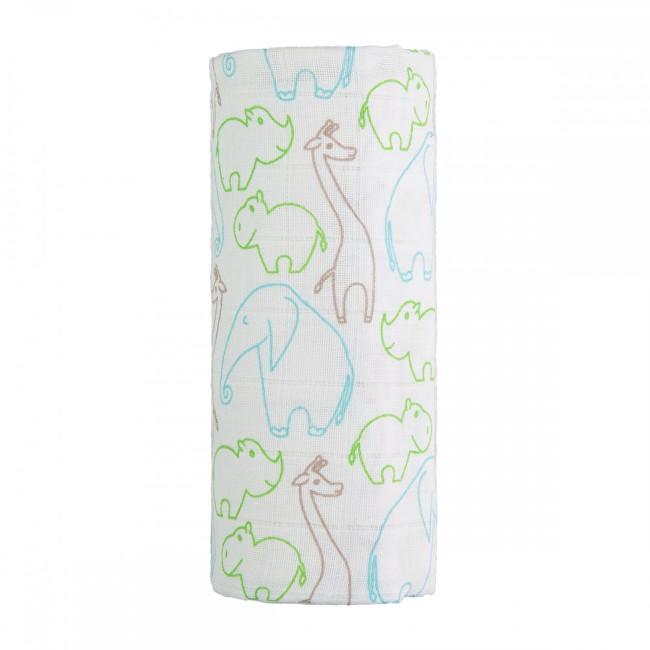 Zobrazit detail výrobku T-tomi Velká bavlněná TETRA osuška 120 x 120 cm Animals / zvířátka